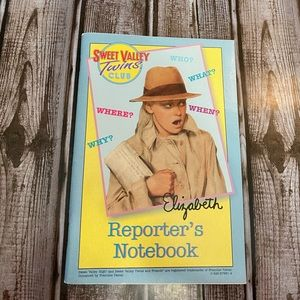 Rare Vg Sweet valley twins cub reporters notebook